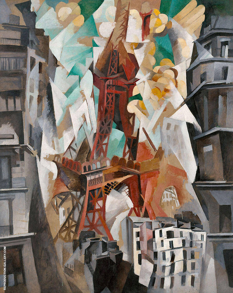 Champ de Mars the Red Tower 1911 By Robert Delaunay Replica Paintings on Canvas - Reproduction Gallery