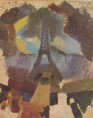Tower First Study 1909 By Robert Delaunay