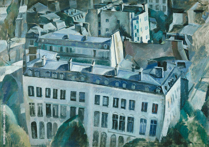 The City First Study 1909 By Robert Delaunay Replica Paintings on Canvas - Reproduction Gallery