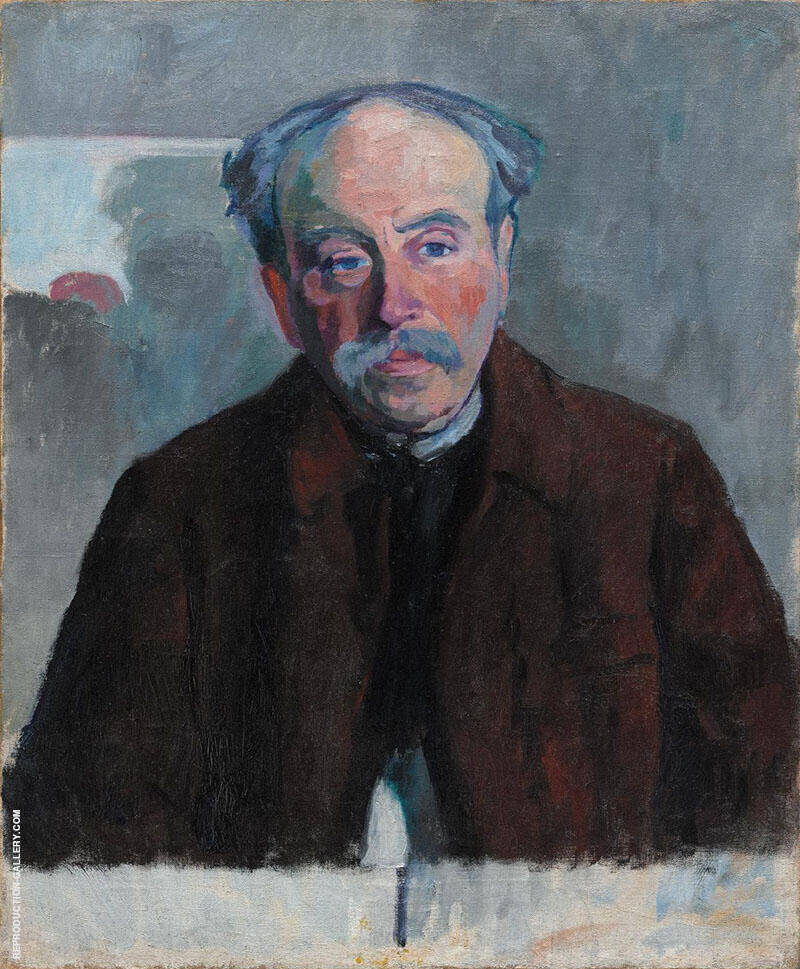 Portrait of the Douanier Rousseau 1914 By Robert Delaunay Replica Paintings on Canvas - Reproduction Gallery