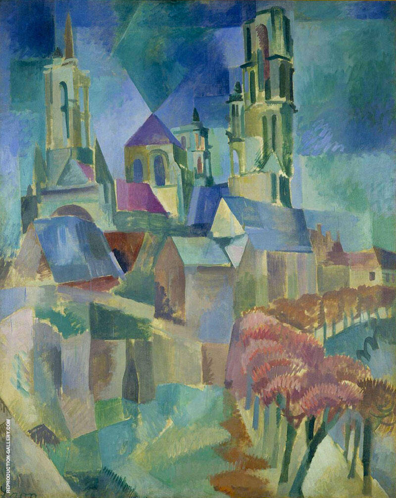 The Tower of Laon 1912 By Robert Delaunay Replica Paintings on Canvas - Reproduction Gallery
