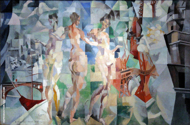 The City of Paris 1910-12 By Robert Delaunay Replica Paintings on Canvas - Reproduction Gallery