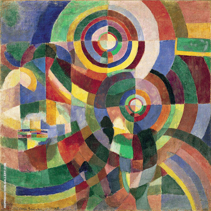 Electric Prisms 1914 By Robert Delaunay Replica Paintings on Canvas - Reproduction Gallery