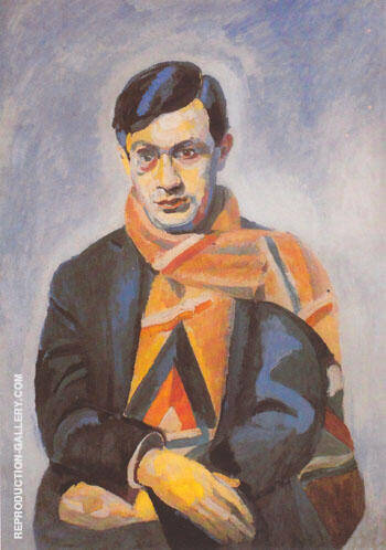 Portrait of Tristan Tzara 1923 By Robert Delaunay - Oil Paintings & Art Reproductions - Reproduction Gallery