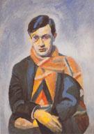 Portrait of Tristan Tzara 1923 By Robert Delaunay