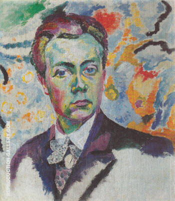 Reproduction of Self Portrait 1906 by Robert Delaunay | Oil Painting Replica On CanvasReproduction Gallery