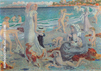 Plage a I'e pagneul 1903 By Maurice Denis