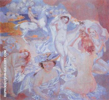 Plage au cheval blanc 1903 By Maurice Denis