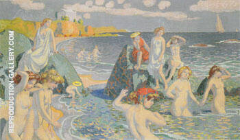Plage au petit temple 1906 By Maurice Denis