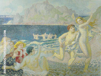 Galatee ou La Poursuite 1908 Painting By Maurice Denis