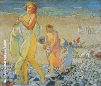 Petite Plage aux galets 1909 By Maurice Denis - Oil Paintings & Art Reproductions - Reproduction Gallery