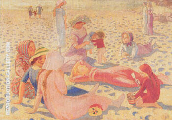 Plage au petit garcon 1911 By Maurice Denis Replica Paintings on Canvas - Reproduction Gallery