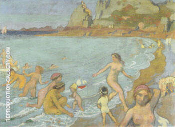 Jeux de Galatee a Trestrignel 1912 By Maurice Denis - Oil Paintings & Art Reproductions - Reproduction Gallery