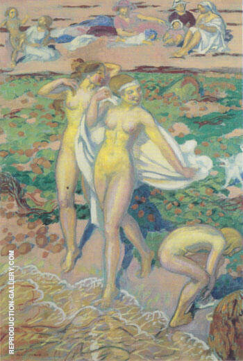 Les Baigneuses de Trebeurden 1919 By Maurice Denis Replica Paintings on Canvas - Reproduction Gallery