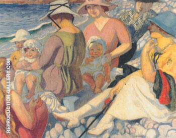 Sur la plage ou Fragment de grande plage 1919 By Maurice Denis