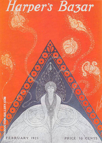 Harper's Bazar February 1921 By Erte