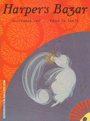 Advance Fall Fashions Harper's Bazar September 1921 By Erte - Oil Paintings & Art Reproductions - Reproduction Gallery