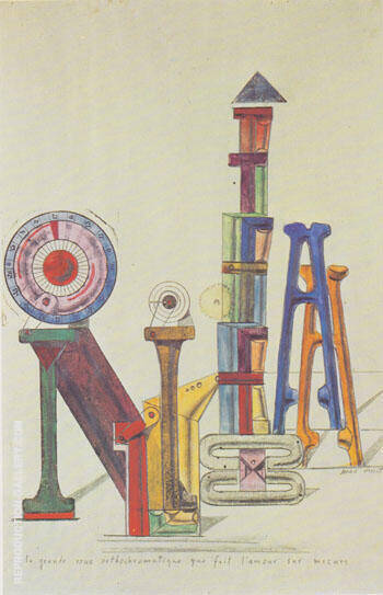 The Great Orthochromatic Wheel Marking Customized Love 1919-20 By Max Ernst - Oil Paintings & Art Reproductions - Reproduction Gallery