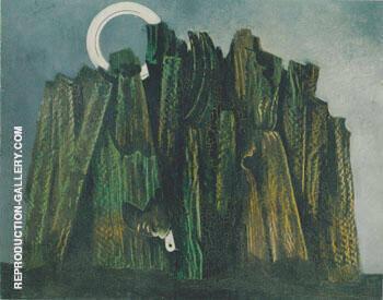 Foret Sombre et oiseau 1927 By Max Ernst