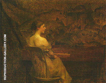 A Portrait 1902 By Thomas Wilmer Dewing Replica Paintings on Canvas - Reproduction Gallery