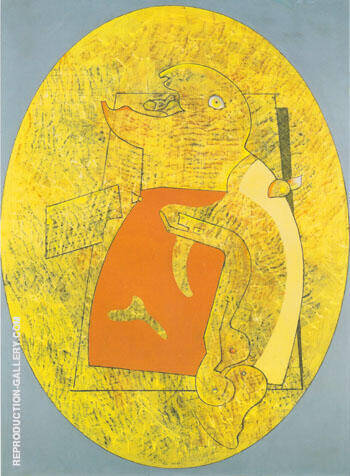 Mangeur d oiseau Figure 1929 Painting By Max Ernst - Reproduction Gallery