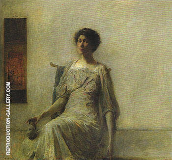 Lady with a Mask 1911 By Thomas Wilmer Dewing - Oil Paintings & Art Reproductions - Reproduction Gallery