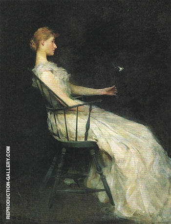 The Carnation 1893 Painting By Thomas Wilmer Dewing - Reproduction Gallery