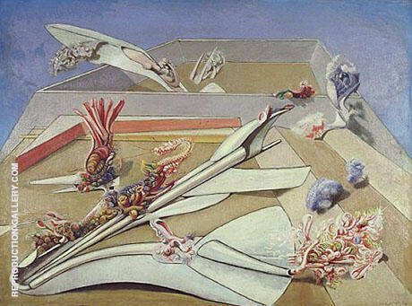 Jardin gobe avions 1935 By Max Ernst