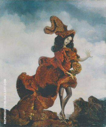 La Fuite or I saw a Grand Duchess who lost her shoe 1940 By Max Ernst