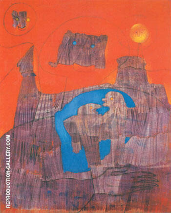 On Parle le Latin 1955 Painting By Max Ernst - Reproduction Gallery