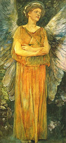 Allegorical Figure of Sleep also know as The Angel of Sleep 1885 By Thomas Wilmer Dewing