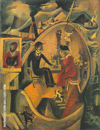 Untitled 1919 Painting By Max Ernst - Reproduction Gallery