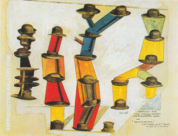 The Hat Makes the Man 1920 By Max Ernst - Oil Paintings & Art Reproductions - Reproduction Gallery