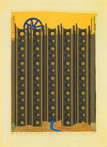 The Little Tear Gland That Says Tic Tac 1920 Painting By Max Ernst