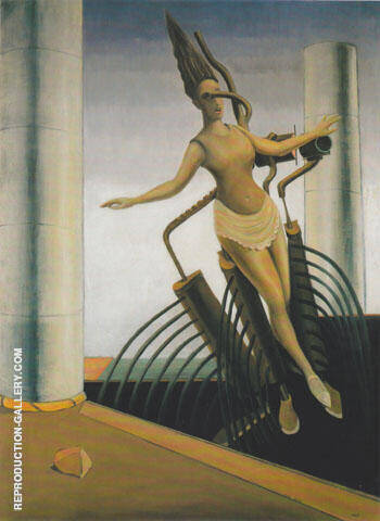 Reproduction of The Tottering Woman 1923 by Max Ernst | Oil Painting Replica On CanvasReproduction Gallery