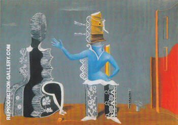 The Couple 1923 Painting By Max Ernst - Reproduction Gallery