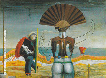Woman Old Man and Flower 1924 Painting By Max Ernst - Reproduction Gallery