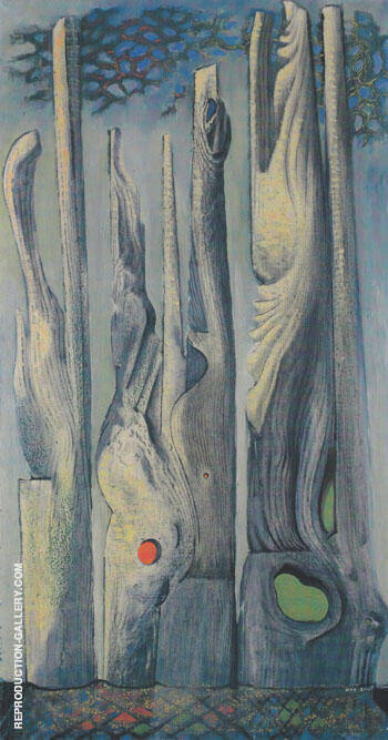 Reproduction of Forest 1925 by Max Ernst | Oil Painting Replica On CanvasReproduction Gallery