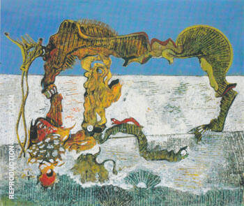 Child Horse Flower and Snake 1927 Painting By Max Ernst