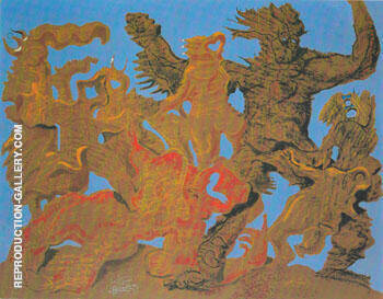 The Horde 1927 By Max Ernst