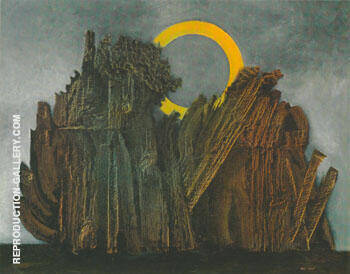 Forest and Sun 1927 By Max Ernst Replica Paintings on Canvas - Reproduction Gallery