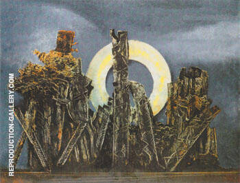 The Large Forest 1927 Painting By Max Ernst - Reproduction Gallery