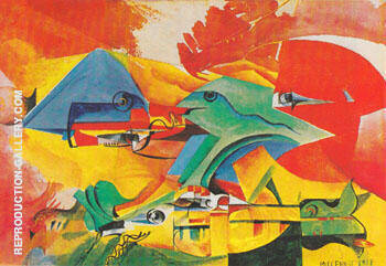 Battle of the Fish 1917 Painting By Max Ernst - Reproduction Gallery
