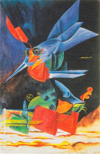 The Spindle's Victory 1917 By Max Ernst