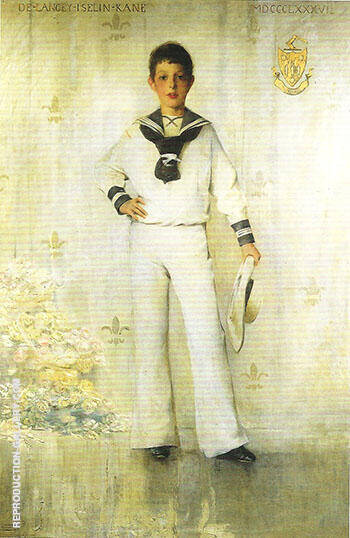 Portrait of DeLancey Iselin Kane 1887 By Thomas Wilmer Dewing - Oil Paintings & Art Reproductions - Reproduction Gallery