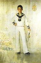 Portrait of DeLancey Iselin Kane 1887 By Thomas Wilmer Dewing