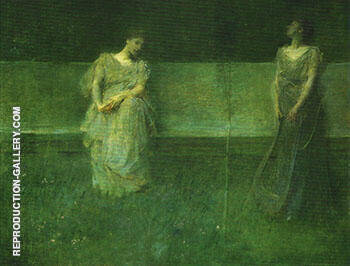 Reproduction of The Song 1891 by Thomas Wilmer Dewing | Oil Painting Replica On CanvasReproduction Gallery