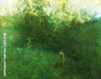 The White Birch 1896 By Thomas Wilmer Dewing Replica Paintings on Canvas - Reproduction Gallery