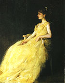 Lady in Yellow 1888 By Thomas Wilmer Dewing