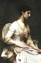 The Letter 1889 By Thomas Wilmer Dewing